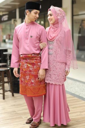 Set Couple Tyara Dusty Pink ( FULL SET )