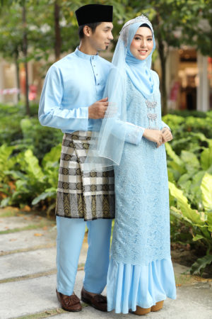 Set Couple Heliza Baby Blue (FULL SET)