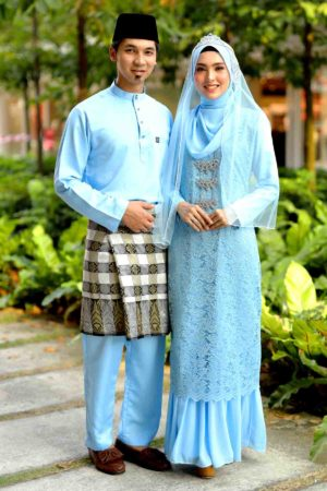 Set Couple Heliza Baby Blue