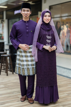 Set Couple Heliza Dark Purple (FULL SET)