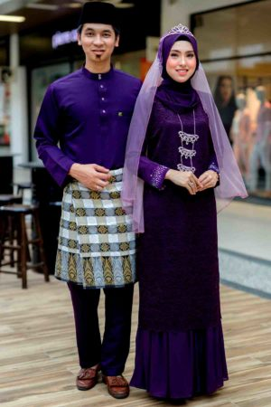 Set Couple Heliza Dark Purple