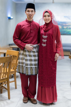 Set Couple Heliza Maroon