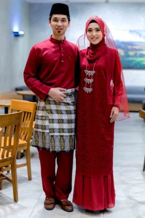 Set Couple Heliza Maroon