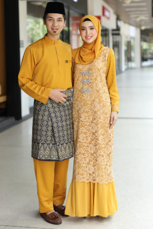 Set Couple Heliza Mustard (FULL SET)