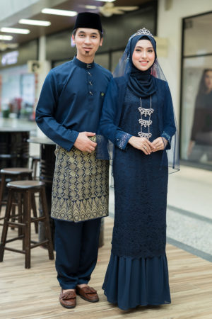 Set Couple Heliza Navy Blue (FULL SET)