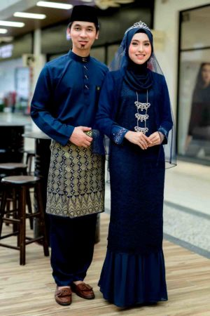 Set Couple Heliza Navy Blue