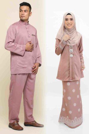 Set Couple Kebaya Kain Songket Rose Gold