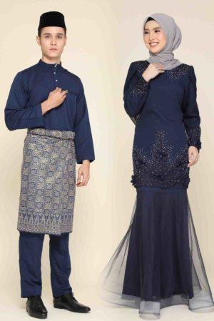Set Couple Lashira Navy Blue