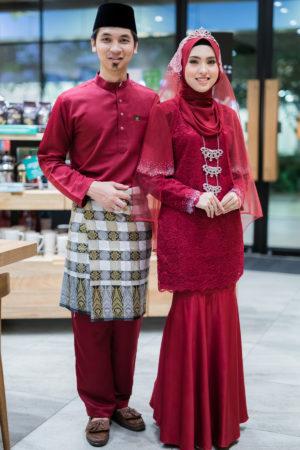 Set Couple Tyara Maroon ( 6 ITEM )