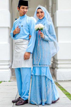 Set Couple Natasya Baby Blue (FULL SET)