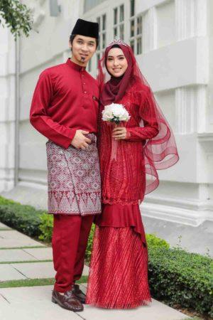 Set Couple Natasya Maroon