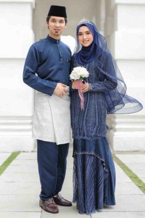 Set Couple Natasya Navy Blue