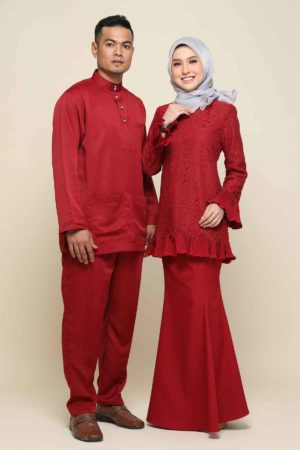 Set Couple Nayra Maroon