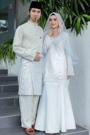 Set Couple Songket Raflesia White