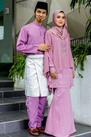 Set Couple Ratu Dusty Purple