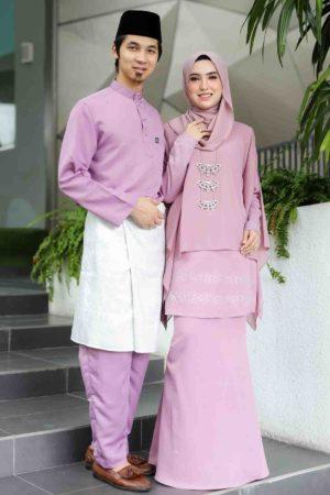 Set Couple Ratu Dusty Purple