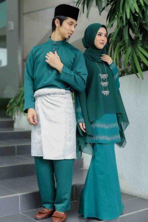Set Couple Ratu Emerald Green