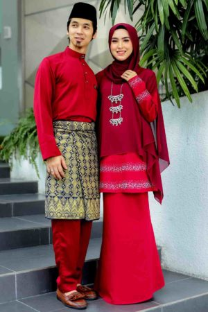 Set Couple Ratu Maroon