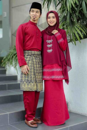 Set Couple Ratu Maroon