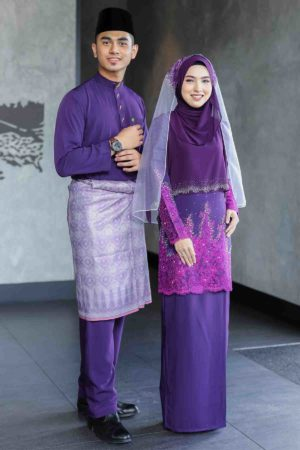 Set Couple Raudhah Dark Purple