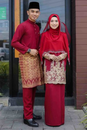 Set Couple Raudhah Maroon