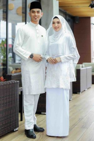 Set Couple Raudhah White