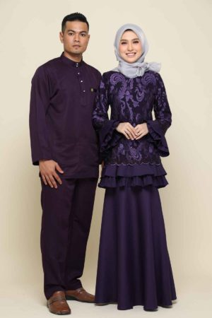 Set Couple Raysha Dark Purple