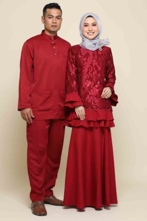 Set Couple Raysha Maroon