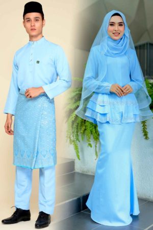 Set Couple Safiera Baby Blue