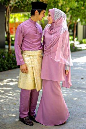 Set Couple Seri Dusty Purple