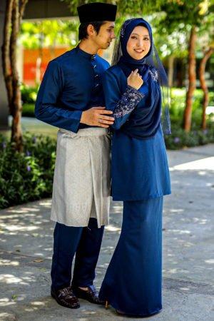 Set Couple Seri Navy Blue