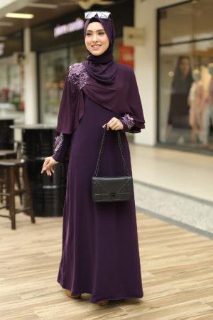 Jubah Diyana Dark Purple