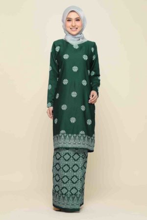 Kurung Songket Tabur Emerald Green