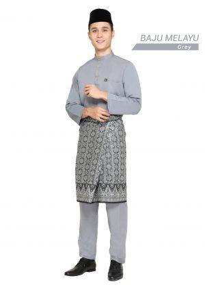 Set- Baju Melayu Al-Habib Grey