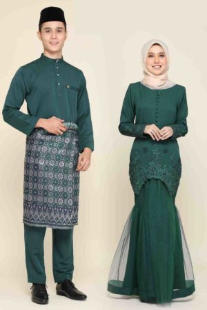 Set Couple Heleena Emerald Green