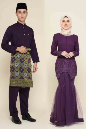 Set Couple Heleena Dark Purple