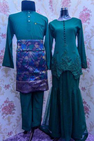 Set Couple Heleena Emerald Green