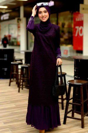 Dress Heliza Dark Purple