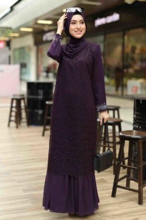 Dress Heliza Dark Purple