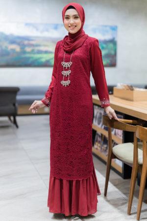 Dress Heliza Maroon