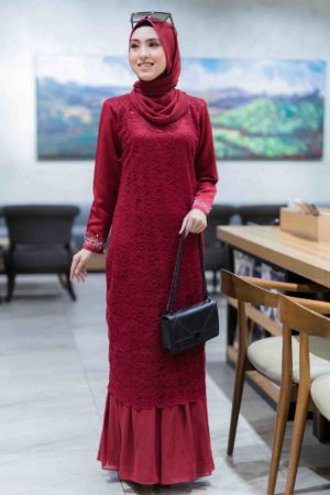 Dress Heliza Maroon