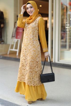 Dress Heliza Mustard