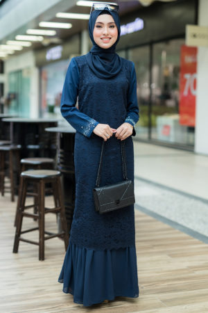 Dress Heliza Navy Blue