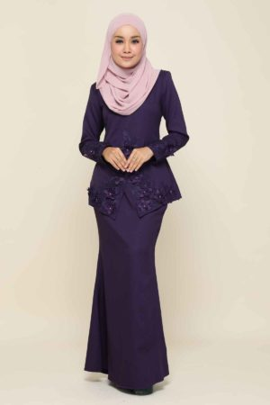 Kebaya Yaya Dark Purple