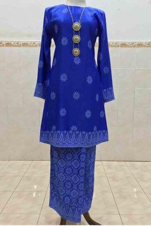 Kurung Songket Tabur Royal Blue