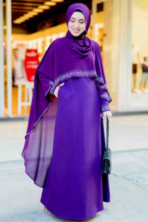 Jubah Ratu Arab Dark Purple