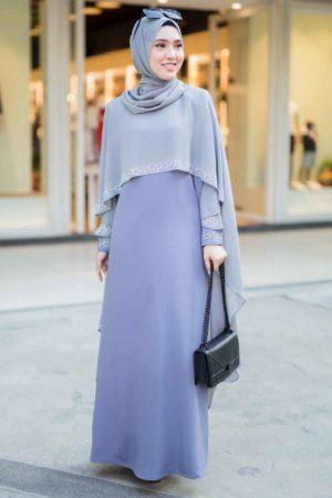 Jubah Ratu Arab Grey