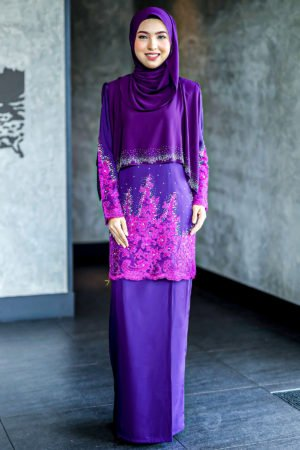 Kurung Raudhah Dark Purple
