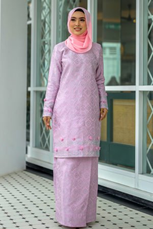 Kurung Songket Original Light Pink