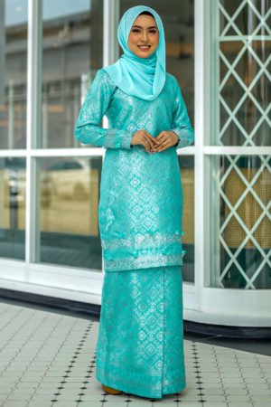 Kurung Songket Original Mint Green